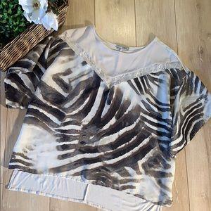 Zara collection safari print blouse 3 for 15.00